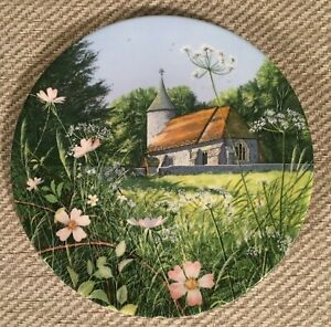 """Royal Doulton Ltd Ed Collectors Plate """"Church By The Meadow"""" By Paul Evans"""