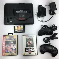 Original Sega Genesis Model 1 Console System 2 Controllers Games Lot Bundle