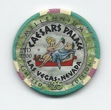 Casino Collection $25 Chip CAESARS PALACE Millennium. Year of 2000 RARE