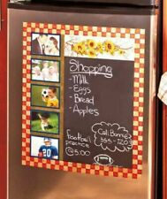 Country Yellow Sunflower Flower Chalkboard Photo Frame Fridge Magnet Decor