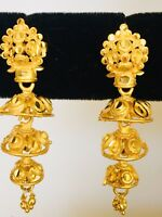 Indian Ethnic Bollywood Gold Plated Small Jhumka Jhumki Earrings Bridal Jewelry