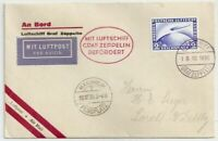 ROW212) Germany 1930 Zeppelin 1st Flight Cover 19.10 1930 to Mannheim to Lorch