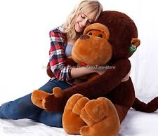 GIANT HUGE LARGE BIG STUFFED ANIMAL SOFT PLUSH BROWN MONKEY BEAR DOLL PLUSH TOY