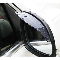 2Pcs Rear View Black Side Mirror Rain Snow Shield Protector For Car Auto