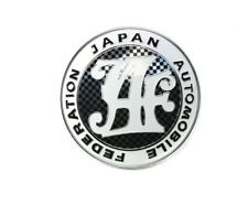 Universal Japan Automobile Federation JAF Carbon Badge For All Cars Front Grille