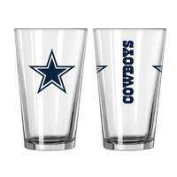 Set of 2 Dallas Cowboys  Boelter NFL Game Day 16oz Pint Glass