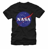 Adult Black Mens Space Shuttle Exploration Mission Team NASA Logo T-Shirt Tee