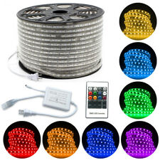 5M-30M 5050 SMD LED Strip Rope Light RGB Lamp Waterproof Home Outdoor 110V