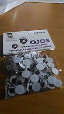 Lotto di Occhi Mobili Palline ø 10 mm incollare Bambole Peluches manualità nero