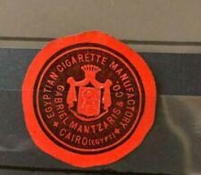 Siegelmarke Seal Egypt Egyptian Cigarette Manufactory Cairo Gabriel Mantzaris