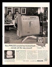 1958 Philco Predicta Television Console Vintage PRINT AD TV Model 4658-SL 1950s