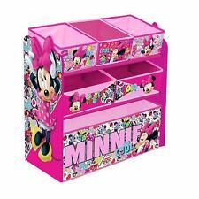 Disney Minnie Mouse Children's Toy Storage Unit Box Organiser Wooden Multi Tray