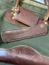 Orvis Battenkill Green Canvas Leather Messenger Bag Briefcase Laptop Bag