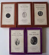 1954-1961~Lot of 5 Vintage Penguin Classics Bookst~PLUTARCH~VIRGIL~EURIPIDES+
