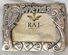 "Silvertone 4X5"" Raj Friends Figurine Picture Frame Holds 3 1/2 X 5"" Photo"