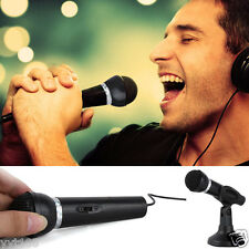 For Desktop Singing Chat Net KTV Speech Microphone 3.5mm Stereo MIC  Stand Mount