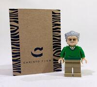 Christo Custom Pad Printed Stan Lee LEGO Minifigure - LIMITED EDITION