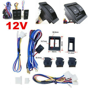 Universal 12V Car Electric Power Window Switch W/ Wire Harness Kit High Quality