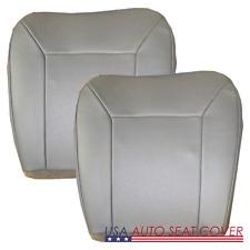 03-014 E150-250-350 -Perforated Driver  Passenger  Bottom Vinyl Seat cover  GRAY