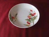 Schumann Porzellan - Suppenteller, Salatschüssel 21 cm - Kirschen, Kirschblüten