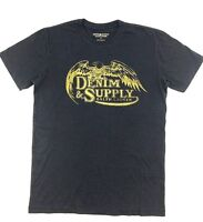 $140 Ralph Lauren Men Blue Yellow Denim & Supply Eagle Crew Neck T Shirt Tee M