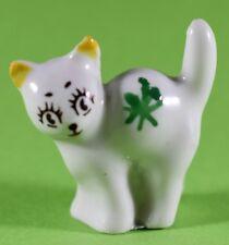 VINTAGE WADE WHIMSIES MINIKINS CAT GREEN STAR