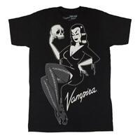 Kreepsville 666 Vampira Jumbo Skull Pin Up Gothic Punk Horror T Shirt MTJVSPU