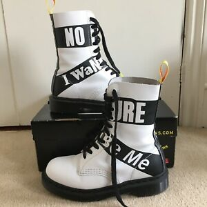 Dr Martens 1490 Sex Pistols White Leather Boots UK 4 Worn once