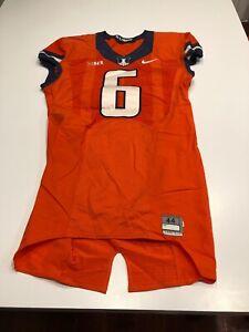 Game Worn Used Illinois Fighting Illini Football Jersey Nike Size 44 #6