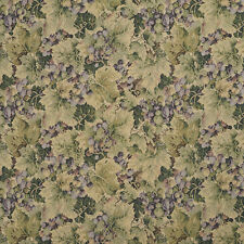 H850 Green And Purple Floral Leaf Tapestry Upholstery Fabric By The Yard