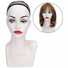Wig Display Female Mannequin Head 15.5 Inch Wig, Hat, Sunglasses, Jewelry Beauty