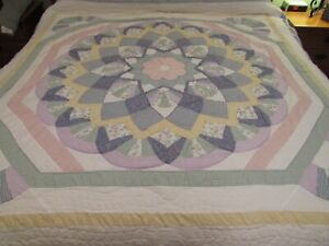 """JC Penney Home Collection patchwork Quilt Full/ Queen 83""""X83"""" Gingham & Floral"""