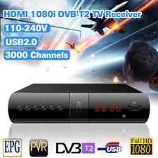 DECODER RICEVITORE DIGITALE TERRESTRE MPEG4 DVB-T2 USB HDMI SCART TELECOMANDO DV