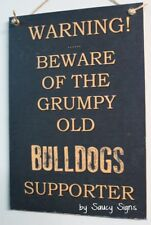 Canterbury Bulldogs Grumpy Old Retro Footy Sign - Jersey Cards Rugby League Etc