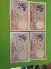 5 Francs Violet Lot De 4
