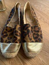 Boden Leopard Print Espadrilles Size 5