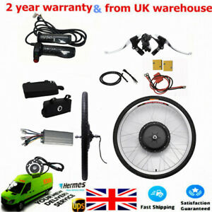 """48V 1000W 26"""" Electric E-Bike Conversion Kit For Bicycle Front Wheel UK"""