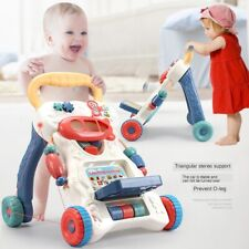 2 In 1 First Steps Baby Walkers Sounds Music and Lights Fun Push Along Walker UK