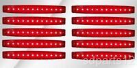 10 x 24V Rouge Feux De Gabarit Latéraux 12 LED Pour Poids Lourds Caravane Camper