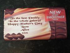 PERSONALISED 114g GALAXY CHOCOLATE BAR - Valentines Fathers Day Mum Dad. Grandad