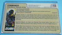 CUSTOM 1985 GI Joe Snake Eyes v2 Figure Sears JCPenney Uncut Red Back File Card