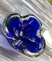 Murano 60er 70er Jahre Aschenbecher Ascher Schale Glas Blau