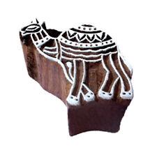 Art Texile Stamp Pottery Stamp Camel Animal Design Wood Stamp For Printing
