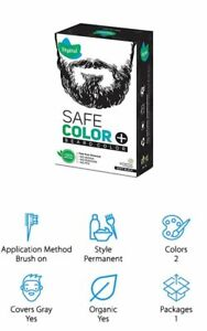 Vegetal Safe Color for Beard, Soft Black, 25 g