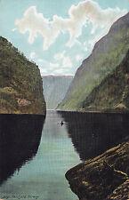 Nærøyfjord SØGN Norge 1907-15 Fredrik Peterson Brevkort Norway Postcard
