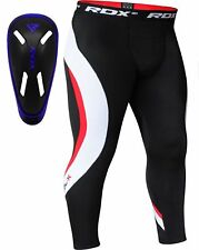 RDX Compression Pants Base Layer Mens Fitness Groin Cup Sports Gym Workout Skins