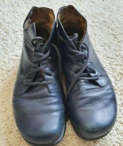 Damen Waldviertler halbhohe Stiefel, Gr. 37 echt Leder, blau mit Lederfutter