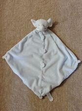 Angel Dear Blue Elephant Baby Lovey/Security Blanket w/Knotted Corners