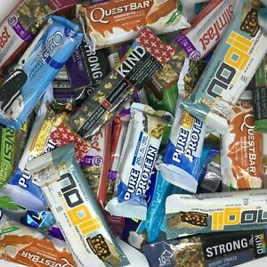 Assorted Brand - ENERGY NUTRITION BARS - Atkins, Clif, Zone, Kind, Powerbar
