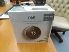 SEALED BOX Google Nest 3rd Generation Smart Learning Thermostat Stainless Steel